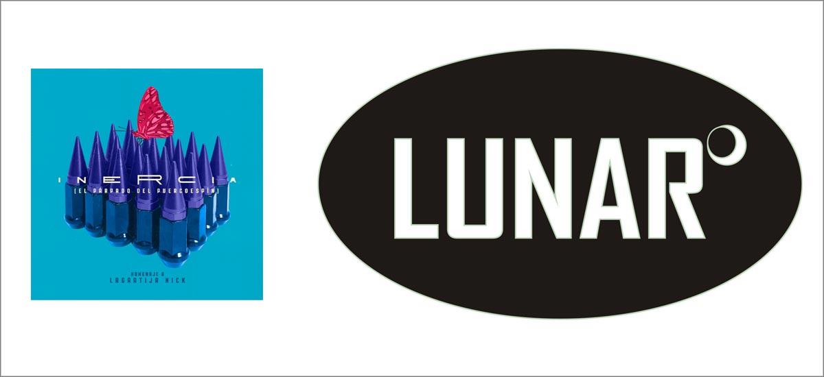 Logo + portada Inercia Lunar Discos